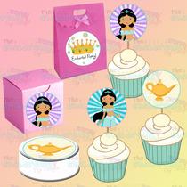 Etiquetas-toppers Quequito-tags-ariel-bella-jazmin-princesas
