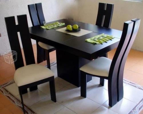 Juego de comedor moderno minimalista de 4 puestos bs for Comedor 4 puestos vidrio