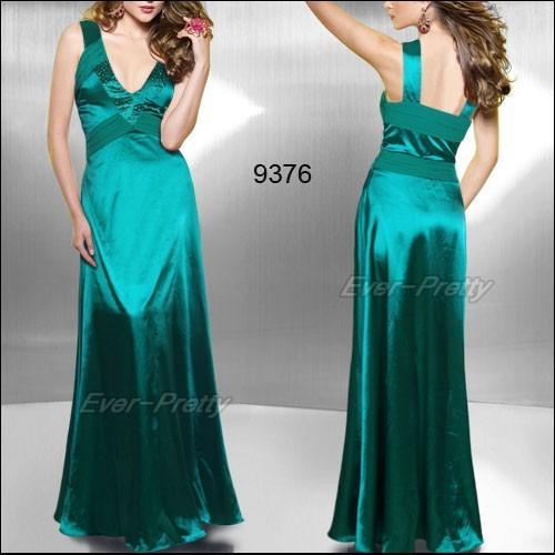 Vestido longo cetim verde