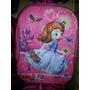 Bolso Morral Escolar Relieve Peppa Frozen Princesa Sofia