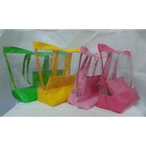Bolsa De Praia Transparente Verniz E Cristal Panicat Sacola
