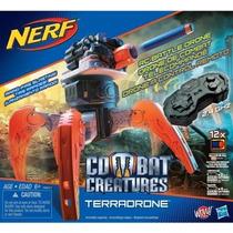 Nerf Combat Creatures Terradrone Araña Lanza 12 Dardos 60m.