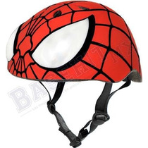 Casco Marvel Spiderman Hero Bike Rojo Para Niño