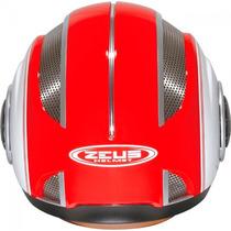 Capacete Zeus 218 Ss6 (aberto) Vermelho/branco