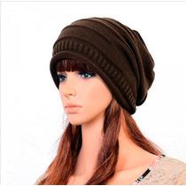Gorro De Moda Beanie Slouch Holgado Tipo Crochet Para Chicas
