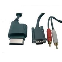 Cabo Adaptador Vga Para Xbox 360 Audio Rca Ou Optico Monitor