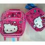 Hello Kitty Morral Maleta Pequena Y Lonchera Escolar Import