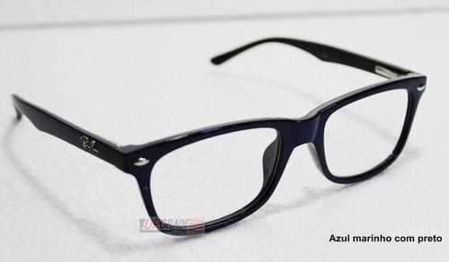 Armação Oculos De Grau Masculino E Feminino Rayban Rb 5228 - R  61,99 em  Mercado Livre 1321a9e7de