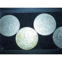 Serie 4 Monedas Antiguas 20 Pesos Culturamaya 80-84