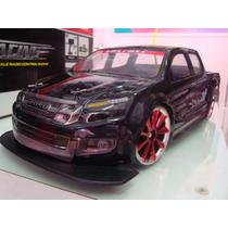 Automodelo Elétrico Pick Up Black Fury Drift 4x4 Escala 1/10