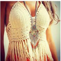 Crop Top, Crochet, Artesanal..promo:incluye Tasa, Si Queres.
