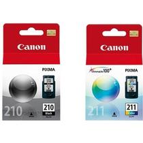 Kit Cartucho Tinta Para Canon 210 211 Mp250 Mp490 Mp480 270