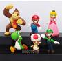 Super Mario Bros Coleccion 6 Personajes Figuras