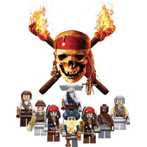 Piratas Del Caribe Jack Sparrow Compatible Con Lego