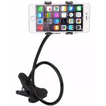 Soporte Flexible Celular Con Pinza Giro 360° Iphone Android