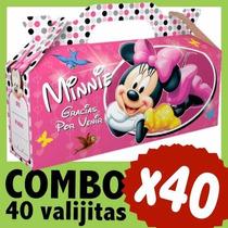 Minnie Bolsita Cajita Valijita Souvenir Combo X 40