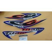 Kit Adesivos Faixas Honda Cg 125 Titan Ks 2000 - Prata