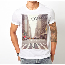 Playeras O Camiseta New York Ny 100% Nueva