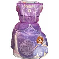 Vestido Disfraz Frozen, Sofia, Rapunzell Cenicienta Importa2