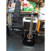 Guitarra Electroacustica G. Shelter 41 Folk Lf4110bk C/funda