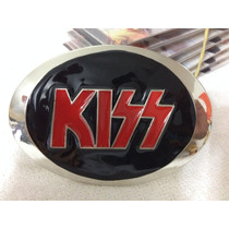 Fivelas Kiss Para Cinto Cromada Bandas Rock Heavy Metal Punk