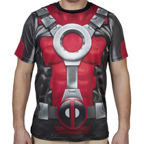 Marvel Deadpool Playera Sublimada Nueva, Importada Original