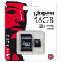 Memoria Microsd Sd 16gb Kingston Clase 10 Tienda Oficial