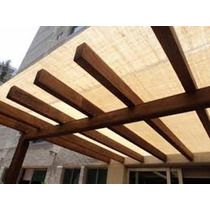 Malla Sombra En Estructura De Madera ( M2 )
