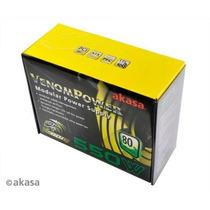 Fonte Atx Real 550w Venom Modular Akasa Pode Retirar