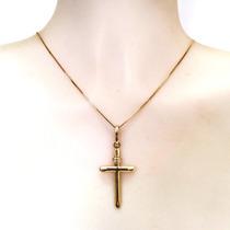Pingente Masculino Cruz Em Ouro 18k Frete Grátis Crucifixo