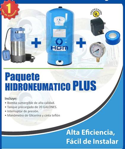 Hidroneumatico sumergible de 1 3 hp con tanque de 26 gal for Costo hidroneumatico