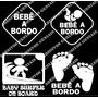 Adesivo Bebê A Bordo Infantil Carro Berço Vários Modelos