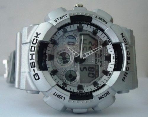 8e9b4da4214 Relogio Sport Modelo G-shock Ga100 Prata Emborrachado  casio - R  69 ...