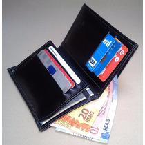 Porta Dinheiro Documentos De Carro E Cnh Couro Legitimo 100%