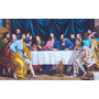 Quadro Santa Ceia 120x160cm Pintura Sacra Óleo Sobre Tela