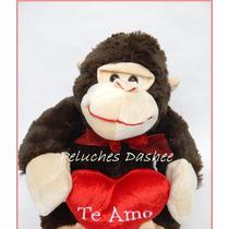 Mono De Peluche 48cm Con Corazon Y Sonido