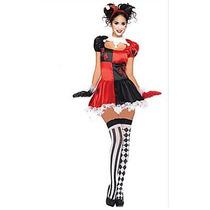 Disfraz/traje Harley Quinn Unitalla Nuevo Licra/satin