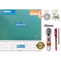 Kit Base De Corte 60 +régua 60 +cortador +caneta Fantasminha