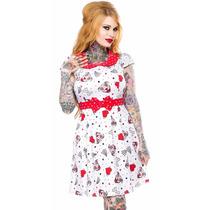 Vestido Diseño Lizzie Pitbulls Sourpuss 60s Punk Goth