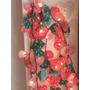 Luces De Navidad Decoradas Con Tela Para Arbolito O Deco.