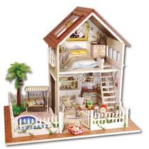 Casa De Boneca 3d Doll House Kids Toys Quebra-cabeça Madeira
