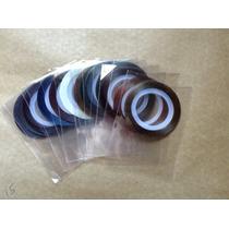 10 Rolos Fitinhas Metalizada Adesiva Para Unha