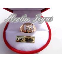 Anillo Oro 18k Inicial - 1.8 Gramos - Economico - M. J. -