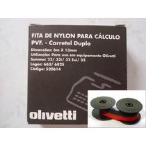 Fitas De Nylon Bicolor P/ Calculadoras Olivetti - 5 Fitas