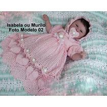 Boneca Bebê Reborn Isabela Ou Murilo Igual Bebe De Verdade