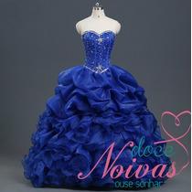 Pronta Entrega Vestido Debutante Azul Bic Royal