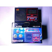 Reproductor Radio Recargable Usb Mp3 Am Fm 4 Bandas