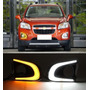 Faros Con Leds Chevrolet Trax Biseles Leds Drl Luz De Dia