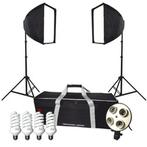 Kit Iluminação Contínua Easy Ek-20 Softbox E27 + Tripé 110v