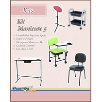 Kit Manicure 5 - Cir. Pop Suporte Mesa Cadeira Cm2 12x S/ J